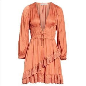 Ulla Johnson Millie embroidered Coral dress
